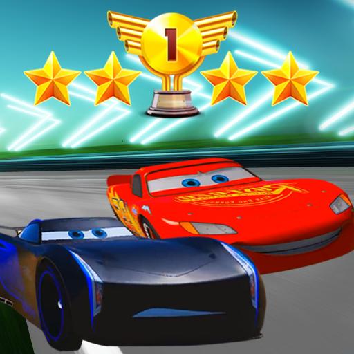 Storm vs Mcqueen Car Lightning Race