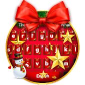 Christmas Bow Keyboard Theme