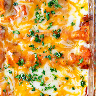 Instant Pot Pressure Cooker Chicken Enchiladas Recipe