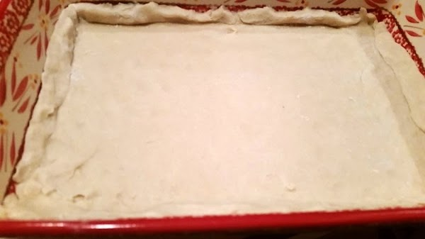 Leave somewhat of an edge on the crust in the dish.  Bake crust 10 -...