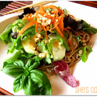 Sesame Noodle Salad with Peanut-Ginger Dressing