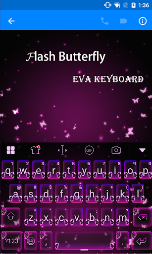 玩免費遊戲APP|下載Flash Butterfly Eva Keyboard app不用錢|硬是要APP