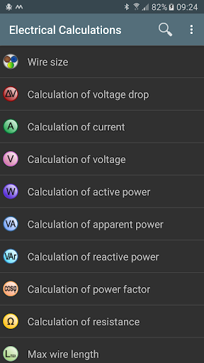 Electrical calculations v6.3.2 [Pro]