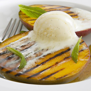 Grilled Mango with Vanilla Syrup