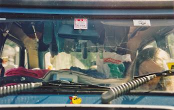 Photo: Drying socks in the car