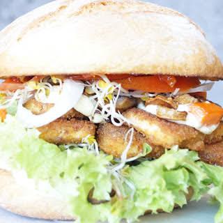 Mushroom and Tofu Cutlet Sandwich [Vegan].
