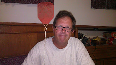 Photo: My and my trusty flyswatter. A man on a mission...to kill flies!