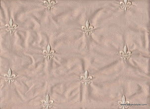 Photo: Agra 03 - Palace Embroidery - Heather   100% Silk Taffeta Plain
