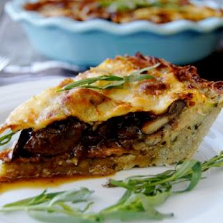 Mushroom and Bacon Savory Pie with Potato Crust.