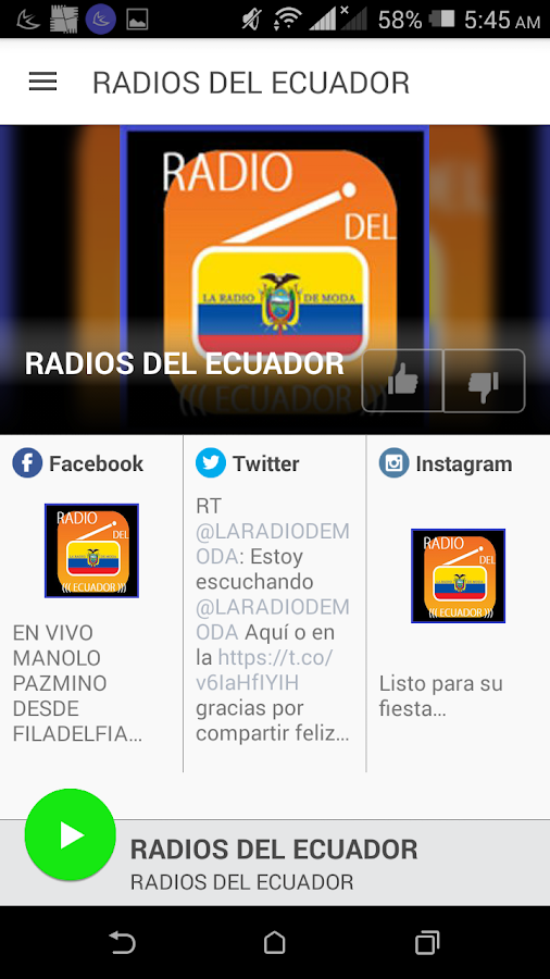 RADIOS DEL ECUADOR- screenshot