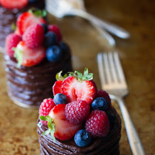 Mini Double Chocolate Berry Cakes