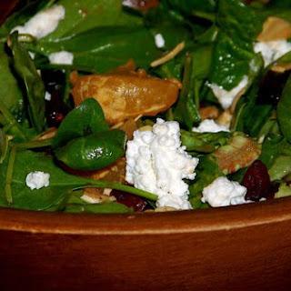Spinach and Mandarin Orange Salad With Pomegranate Balsamic Vinaigrette.
