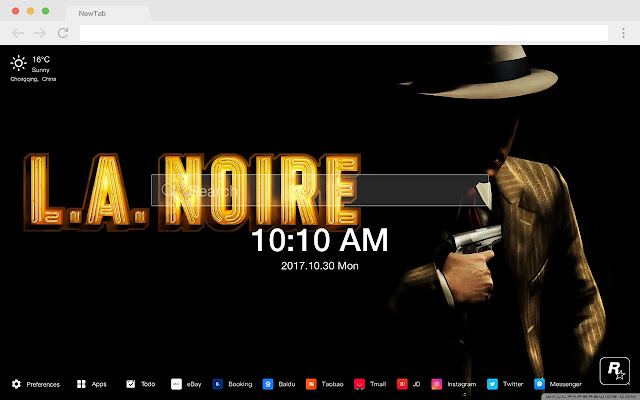 Black Los Angeles New Tab HD Themes