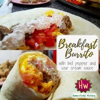 Sour Cream Sauce Burritos Recipes.