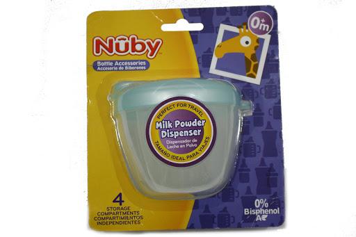 Envase Nuby Contenedor De Leche En Polvo 4 Compartimientos +0M