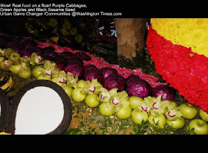 Photo: Pasadena Rose Parade 2013  Kaiser Float ~Enjoy looking how they used Red Apples and Cabbage of the float