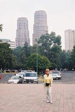 Photo: 1B080004 Meksyk - Ciudad de Mexico - wieżowce w kształcie kukurydzy - symbol życia
