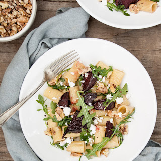 Balsamic Roasted Beet & Walnut Pasta