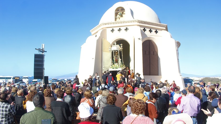 Romería de la Virgen del Mar a Torregarcía el pasado 12 de enero.