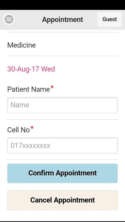 Ibn Sina Doctor Appointment- screenshot
