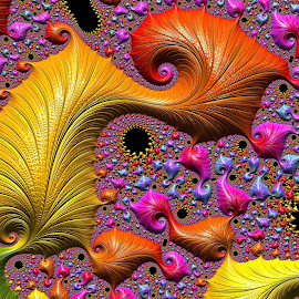 Leaf pattern by Capucino Julio - Illustration Abstract & Patterns ( abstract, pattern, leaf, fractal, design )