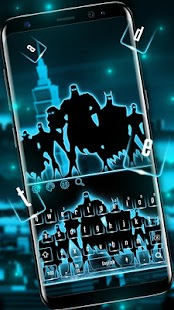 Fearless Superheroes Keyboard Theme - náhled