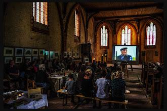 Photo: Rosinenberg: unser neues Dorfkino in der Kirche wird gut angenommen. Regisseur Trevor Peters.  Kino, Landschaften, Kunst und Meer: http://goo.gl/ITvFrA