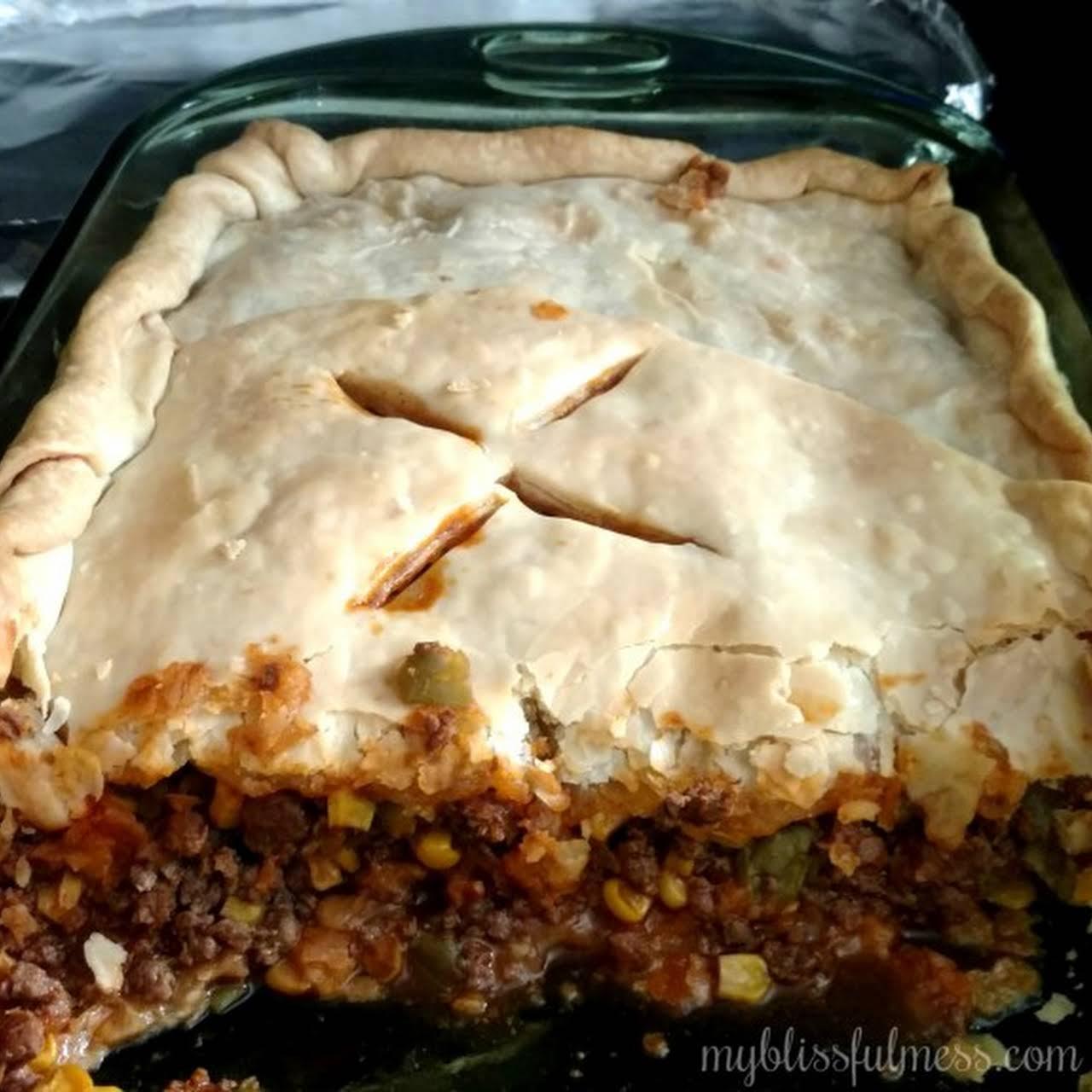 Susans Fabulous Meat Pie