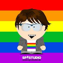 Photo: rainbow flag background & shirt motif