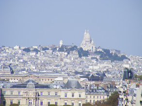 Photo: The view towards Montmartre at high zoom - my little studio apartment is in there somewhere!