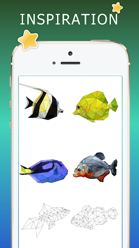Fish coloring - Sea creatures poly art color 1.2 screenshots 2