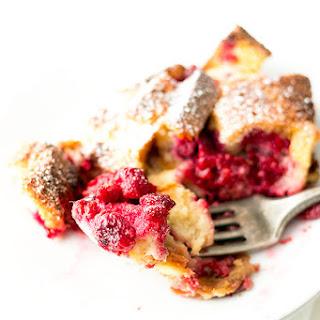Raspberry White Chocolate Breakfast Bread Pudding.
