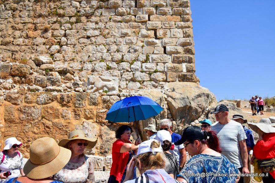 Гид в Израиле Светлана Фиалкова на экскурсии в крепости Нимрод.