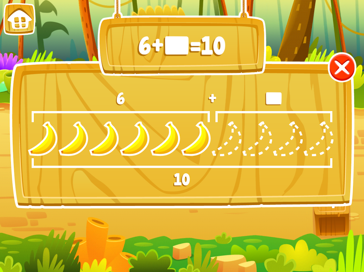 Math Jungle : Kindergarten- screenshot