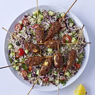 Spicy Lamb & Greek Brown Rice Salad