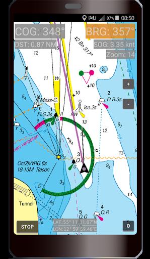 Skipper - nautical navigation available offline screenshot 1