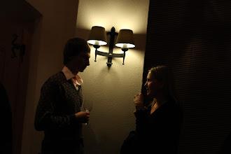 Photo: Annie Gravier socializing...