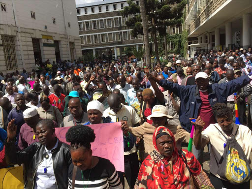 County workers threaten to strike over delayed salaries