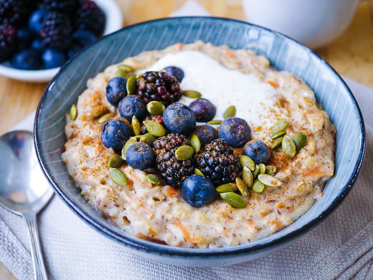 Healthy Carrot Cake Oat Porridge Recipe