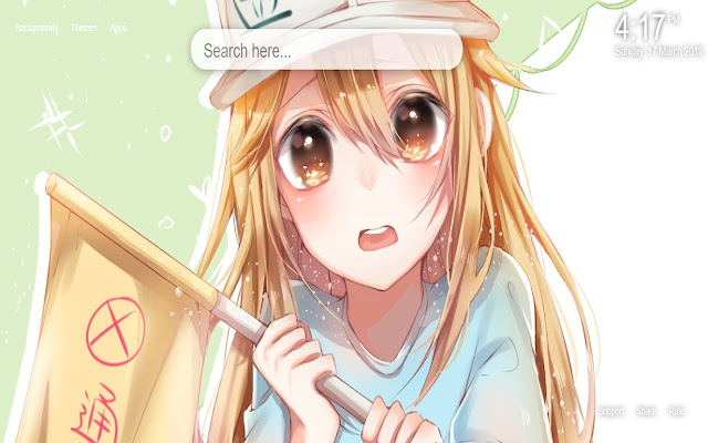 Cells at Work Wallpapers HD New Tab