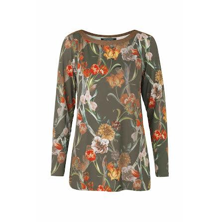 Ilse Jacobsen flower blouse army