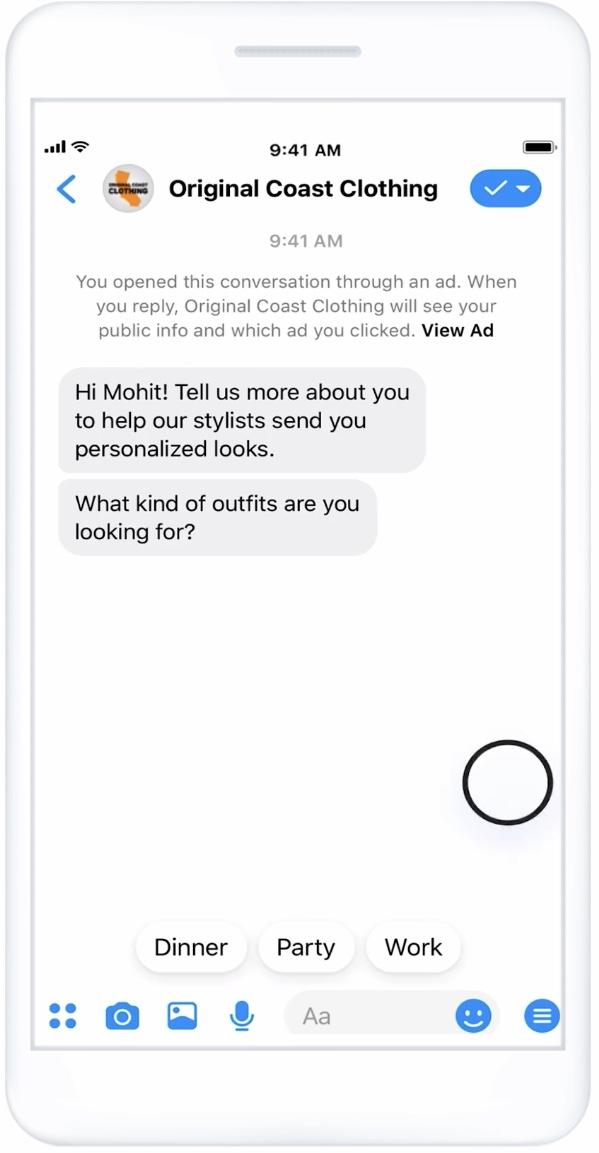 Facebook: Anunciamos el lanzamiento global de la generación de leads en Messenger 3