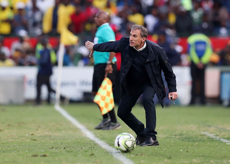 Giovanni Solinas, coach of Kaizer Chiefs during the Absa Premiership 2018/19 match between Mamelodi Sundowns and Kaizer Chiefs at the Loftus Versveld Stadium, Pretoria on 04 August 2018.