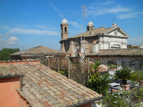 Photo: View from the rooftop garden of our hotel in Rome