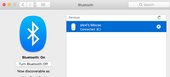 Remove the Magic Mouse from the Devices list.