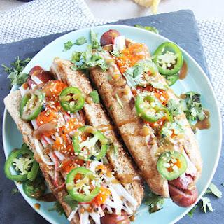Spicy Shishito Hotdog #SundaySupper
