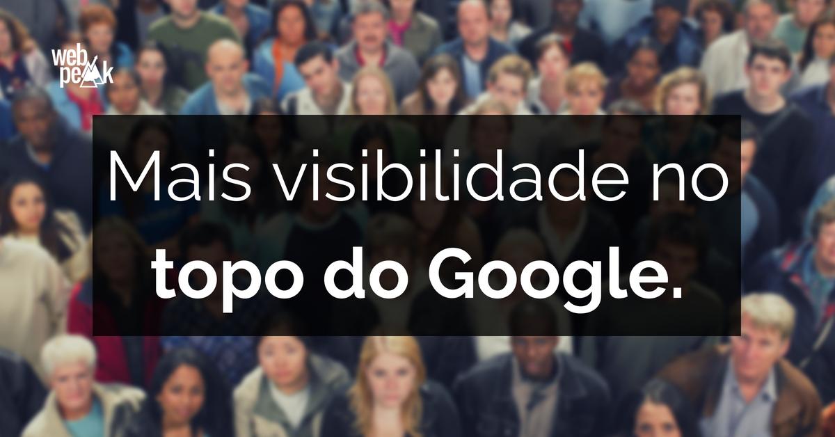 rastreamento google - webpeak