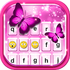 Pink Glitter Emoticon Keyboard icon