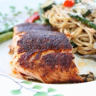 Salmon with Sweet & Spicy Rub.