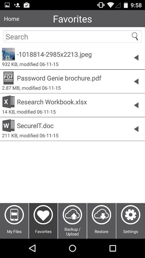 FileHopper File Sharing- screenshot